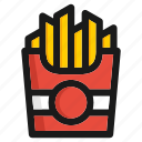 burger, cooking, fastfood, hamburger, kitchen, potato, vegetable icon