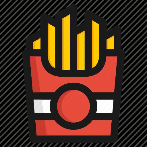 burger, cooking, fastfood, hamburger, kitchen, potato, vegetable icon