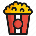fastfood, kitchen, meal, popcorn, restaurant, snack, utensils icon