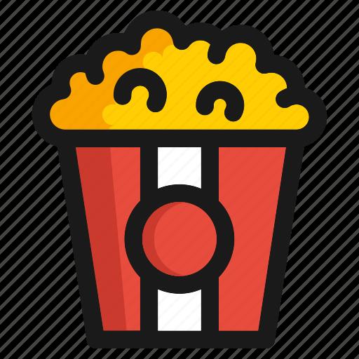 fastfood, kitchen, meal, popcorn, restaurant, snack, utensils icon