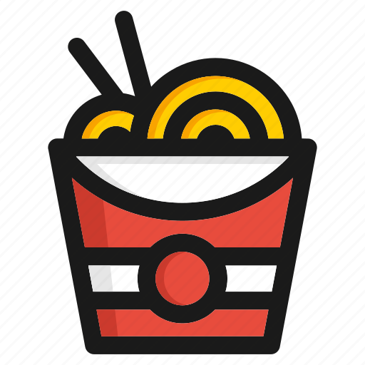 appliance, doodle, fastfood, junkfood, kitchen, meal, noodle, utensil icon
