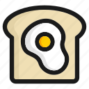 bread, breakfast, egg, fast food, hamburger, kitchen, meal icon