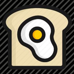 bread, breakfast, egg, fast food, hamburger, kitchen, meal icon