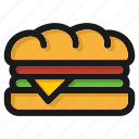 burger, fastfood, hamburger, junkfood, meal, restaurant, sandwich icon