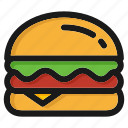 cheeseburger, fastfood, hamburger, italian, junk, pizza, restaurant icon