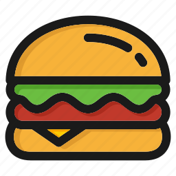 cheeseburger, fastfood, hamburger, italian, junk, pizza, restaurant icon