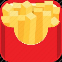 fast food, french fries, potato icon