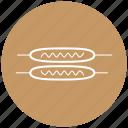 fast food, food, frankfurters, sausage, street food icon