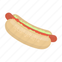 cafe, cooking, fast food, food, hot dog, restaurant, sausage icon