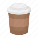 coffee takeaway, cooking, drink, fast food, food, glass, restaurant icon
