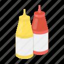 cooking, fast food, food, ketchup, mustard, restaurant, seasoning icon