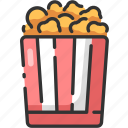 corn, fast, food, meal, pop, popcorn, snack icon
