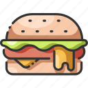burger, cheese, fast, food, hamburger, meal, meat icon