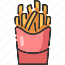 chip, food, french, fries, meal, potato, snack icon