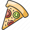 cheese, fast, food, italian, meal, pizza, slice icon