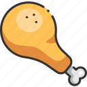 chicken, cooked, crispy, fast, food, fried, meal icon