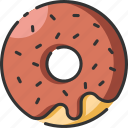 bakery, chocolate, dessert, donut, food, meal, sugar icon