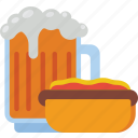 beer, fast, food, hotdog, take away, takeaway icon