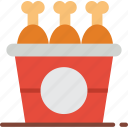 chicken, fast, food, fried, take away, takeaway icon