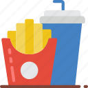 drink, fast, food, fries, take away, takeaway icon