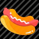 american, fast food, food, hot dog, hotdog, meal, snack icon