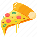 delivery, fastfood, food, italian, pizza, pizzeria, slice icon