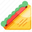 bread, club sandwich, fast food, food, sandwich icon