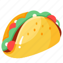 food, mexican, snack, taco, tortilla, wrap icon