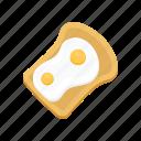 bread, omelette, egg, breakfast