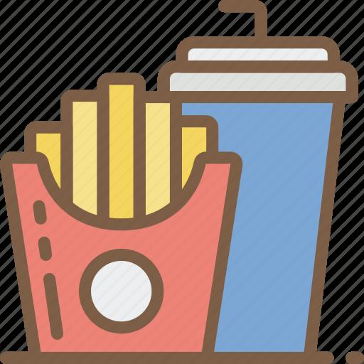 drink, fast, food, fries, take away, takeaway icon