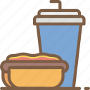drink, fast, food, hotdog, take away, takeaway icon