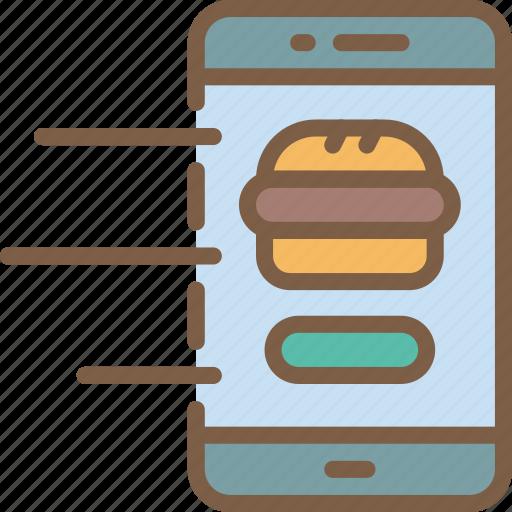 device, fast, food, order, take away, takeaway icon