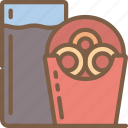 fast, food, onion, rings, take away, takeaway icon