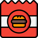 burger, fast, food, out, take, take away, takeaway icon