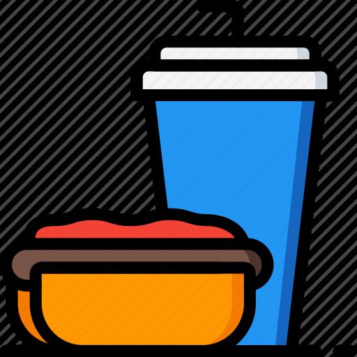 drink, fast, food, hotdog, take away, takeaway icon