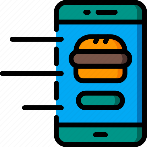device, fast, food, order, take away, takeaway icon