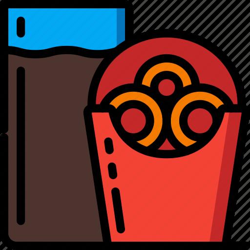 fast, food, onion, rings, take away, takeaway icon