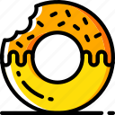 doughnut, fast, food, take away, takeaway icon