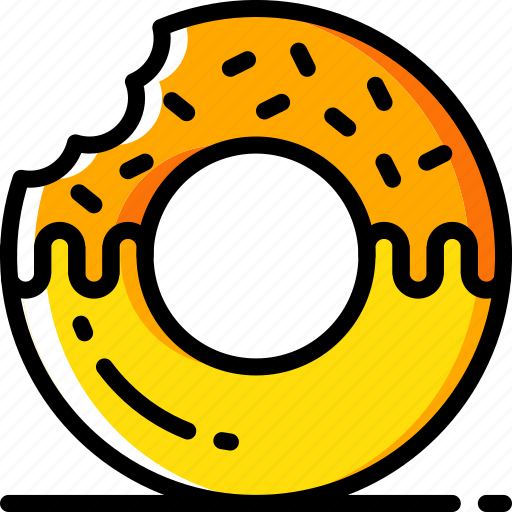 doughnut, fast, food, take away, takeaway icon