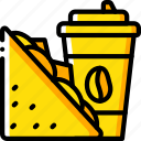coffee, fast, food, sandwich, take away, takeaway icon