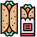 burrito, fastfood, food, maxican, streetfood icon
