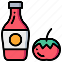 fruit, ketchup, sauce, tomato, vegetable