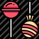 food, lollipop, sweet, toffee icon