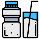 beverage, drink, milk, water icon