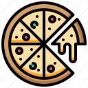 cheese, fastfood, food, pizza icon