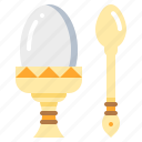 boiled, egg, fastfood, food icon