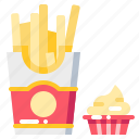 cream, dessert, fastfood, food, french, frie icon