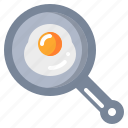 egg, food, fried, pan icon