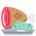 beef, food, ham, meat, pork icon