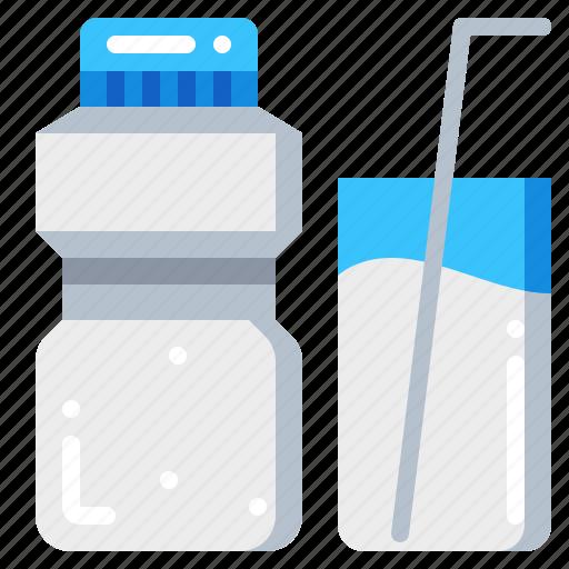 beverage, drink, milk, water icon